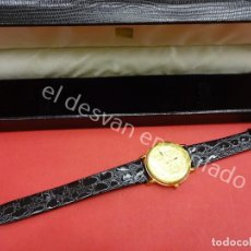 Relojes: RELOJ SELLO AUREO DE FELIPE II. CHAPADO EN ORO. NUEVO EN SU ESTUCHE. Lote 194677932