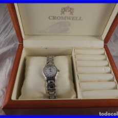 Relojes: RELOJ JOYA ORO BLANCO CROMWELL CON BRILLANTES. Lote 194866185