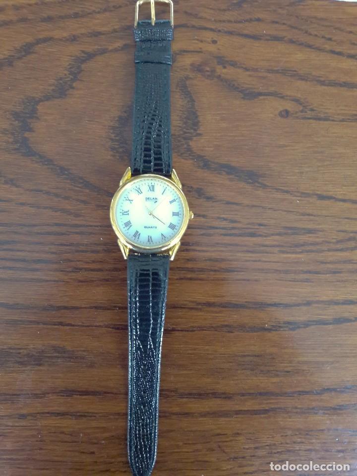 Relojes: RELOJ DE CABALLERO, DORADO, NUEVO A ESTRENAR. - Foto 2 - 194869138