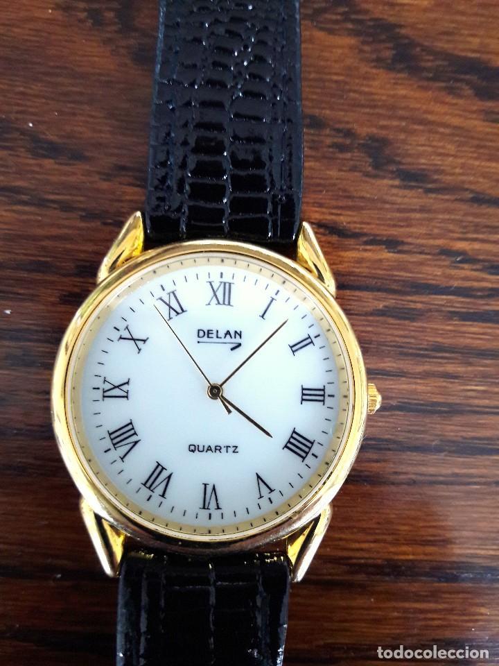 Relojes: RELOJ DE CABALLERO, DORADO, NUEVO A ESTRENAR. - Foto 4 - 194869138