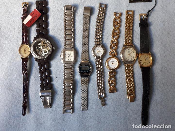LOTE DE 8 RELOJES DE CUARZO PARA DAMA (Relojes - Relojes Actuales - Otros)