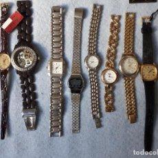 Relojes: LOTE DE 8 RELOJES DE CUARZO PARA DAMA. Lote 194871772