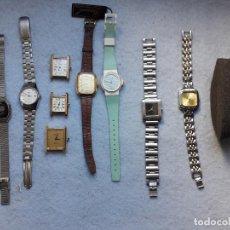 Relojes: LOTE DE 10 RELOJES DE CUARZO PARA DAMA. Lote 194871993