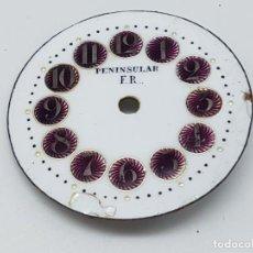 Relojes: ESFERA ESMALTADA ( PENINSULAR F.R. ) CON ELEMENTOS METÁLICOS. Lote 195201682