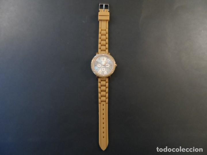 Relojes: RELOJ CORREA CAUCHO CAMEL Y ACERO ORO ROSA. GEORGIE VALENTIAN. ESFERA PLATA Y ORO. SIGLO XXI - Foto 2 - 195278386