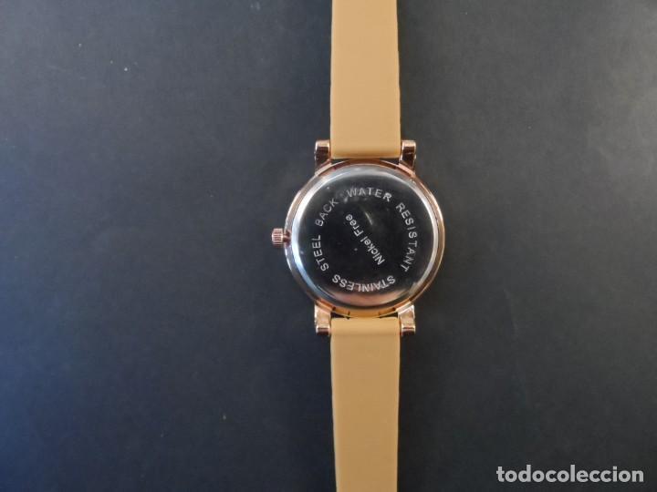 Relojes: RELOJ CORREA CAUCHO CAMEL Y ACERO ORO ROSA. GEORGIE VALENTIAN. ESFERA PLATA Y ORO. SIGLO XXI - Foto 3 - 195278386