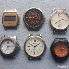 Relojes: LOTE DE 6 RELOJES DE CUARZO PARA CABALLERO.. Lote 195298453