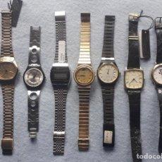 Relojes: LOTE DE 7 RELOJES DE CUARZO PARA CABALLERO.. Lote 195298808