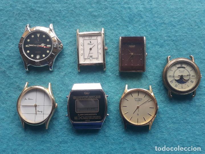 LOTE DE 7 RELOJES DE CUARZO PARA CABALLERO. (Relojes - Relojes Actuales - Otros)