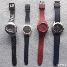 Relojes: LOTE DE 4 RELOJES DEPORTIVOS PARA CABALLERO DE CUARZO. Lote 195369895