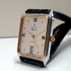 Relojes: RELOJ CAUNY MODELO ELEGANCE AÑOS 80 DE CUARZO Y NUEVO A ESTRENAR. Lote 195370408