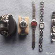Relojes: LOTE DE 5 RELOJES DE CUARZO PARA DAMA. Lote 195371516