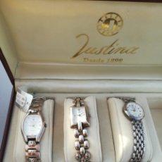 Relojes: LOTE RELOJES PLATA DE LEY NUMERADO 925 JUSTINA. Lote 195447245