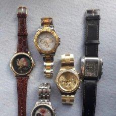 Relojes: LOTE DE 5 RELOJES DE CUARZO PARA CABALLERO. Lote 195450111