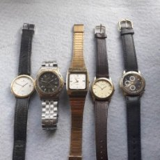 Relojes: LOTE DE 5 RELOJES DE CUARZO PARA CABALLERO. Lote 195450910