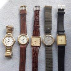 Relojes: LOTE DE 5 RELOJES DE CUARZO PARA CABALLERO. Lote 195451498