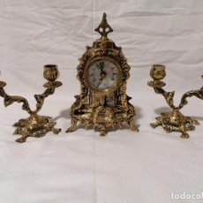 Relojes: CONJUNTO DE RELOJ CON GUARNICIÓN . Lote 195491233