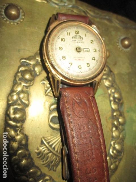 Relojes: PHILIPPE PRECISION 21 RUBIES DOS SELLOS RELOJ PULSERA GRANDE PLACA DE ORO 2º GUERRA MUNDIAL SS - Foto 5 - 203962485