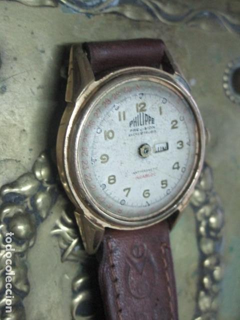 Relojes: PHILIPPE PRECISION 21 RUBIES DOS SELLOS RELOJ PULSERA GRANDE PLACA DE ORO 2º GUERRA MUNDIAL SS - Foto 8 - 203962485