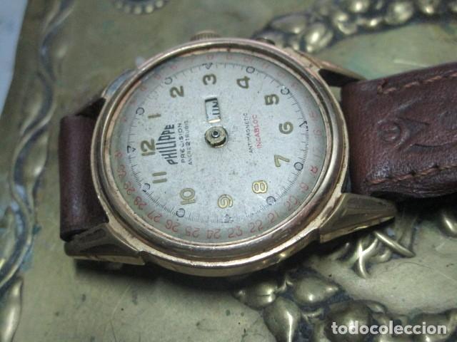 Relojes: PHILIPPE PRECISION 21 RUBIES DOS SELLOS RELOJ PULSERA GRANDE PLACA DE ORO 2º GUERRA MUNDIAL SS - Foto 15 - 203962485