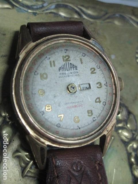 Relojes: PHILIPPE PRECISION 21 RUBIES DOS SELLOS RELOJ PULSERA GRANDE PLACA DE ORO 2º GUERRA MUNDIAL SS - Foto 7 - 203962485