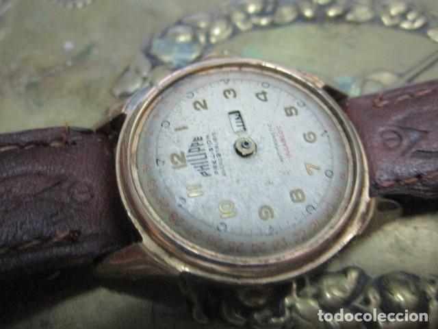Relojes: PHILIPPE PRECISION 21 RUBIES DOS SELLOS RELOJ PULSERA GRANDE PLACA DE ORO 2º GUERRA MUNDIAL SS - Foto 24 - 203962485