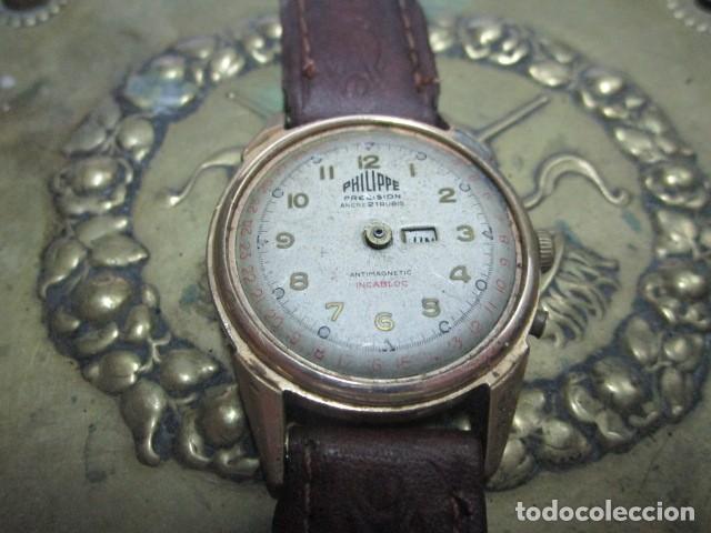 Relojes: PHILIPPE PRECISION 21 RUBIES DOS SELLOS RELOJ PULSERA GRANDE PLACA DE ORO 2º GUERRA MUNDIAL SS - Foto 25 - 203962485