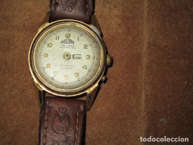 Relojes: PHILIPPE PRECISION 21 RUBIES DOS SELLOS RELOJ PULSERA GRANDE PLACA DE ORO 2º GUERRA MUNDIAL SS - Foto 6 - 203962485