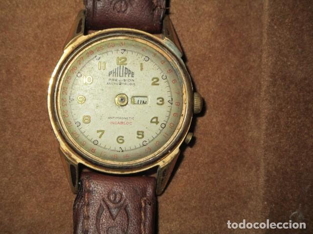 Relojes: PHILIPPE PRECISION 21 RUBIES DOS SELLOS RELOJ PULSERA GRANDE PLACA DE ORO 2º GUERRA MUNDIAL SS - Foto 37 - 203962485