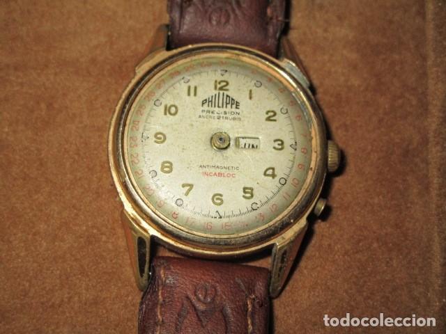 Relojes: PHILIPPE PRECISION 21 RUBIES DOS SELLOS RELOJ PULSERA GRANDE PLACA DE ORO 2º GUERRA MUNDIAL SS - Foto 4 - 203962485