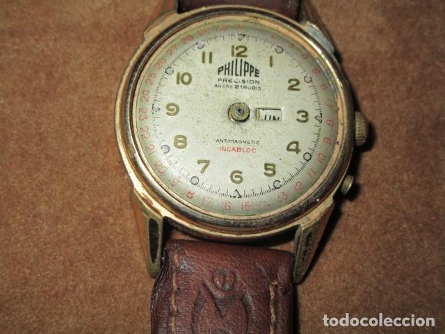 Relojes: PHILIPPE PRECISION 21 RUBIES DOS SELLOS RELOJ PULSERA GRANDE PLACA DE ORO 2º GUERRA MUNDIAL SS - Foto 42 - 203962485