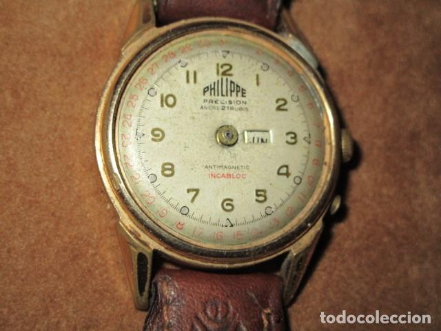 Relojes: PHILIPPE PRECISION 21 RUBIES DOS SELLOS RELOJ PULSERA GRANDE PLACA DE ORO 2º GUERRA MUNDIAL SS - Foto 3 - 203962485