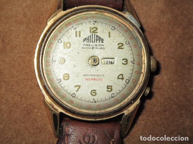 Relojes: PHILIPPE PRECISION 21 RUBIES DOS SELLOS RELOJ PULSERA GRANDE PLACA DE ORO 2º GUERRA MUNDIAL SS - Foto 41 - 203962485