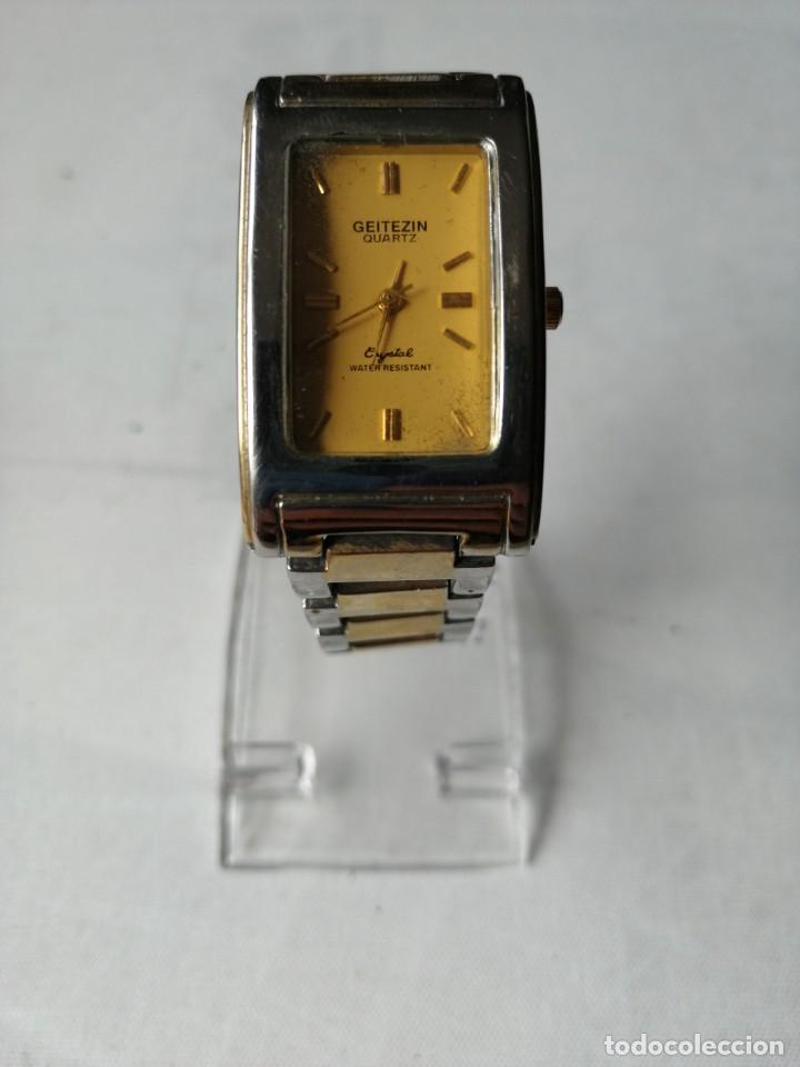 Relojes: RELOJ DE SEÑORA GEITEZIN.JAPAN MOVT,QUARTZ.ARMIS DE METAL. - Foto 2 - 196131045