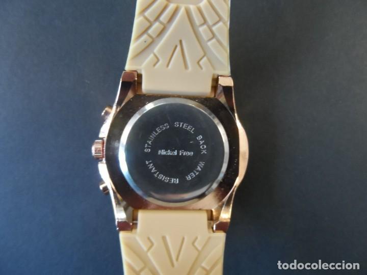 Relojes: RELOJ CORREA CAUCHO CAMEL Y ACERO ORO ROSA. GIORGIE VALENTIAN. ESFERA CAMEL. SIGLO XXI - Foto 3 - 196564573