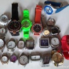 Relojes: LOTE DE 23 RELOJES DE CUARZO, SE HAN PROBADO Y FUNCIONAN MAS DE 18. Lote 197221886