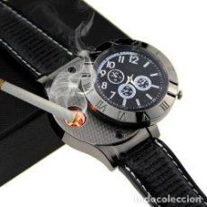 Relojes: RELOJ CON ENCENDEDOR DE CARGA USB SIN LLAMA. Lote 197657843