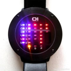 Relojes: RELOJ OI THE ONE IBIZA RIDE, CAJA ACERO DE 4,5 CM, SISTEMA BINARIO POR LEDS, SUMERGIBLE, FUNCIONA. Lote 198172032