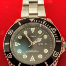 Relojes: RELOJ TIMEX DOBLE CALENDARIO FUNCIONA PERFECTAMENTE DIÁMETRO 38MILMETROS ACERO INOXIDABLE. Lote 198794070