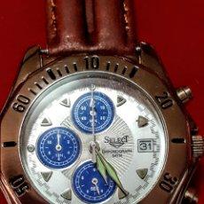 Relojes: RELOJ SELECT CRONOGRAFO CALENDARIO WATER RESISTEN CUARZO NUEVO SIN ESTRENAR FUNCIONA PERFECTAMENTE. Lote 198829081