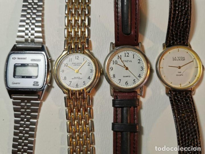 LOTE DE CUATRO RELOJES DE QUARTZ, KESSEL, GENEVA, PHILIPPE ARNOL, TV3 (Relojes - Relojes Actuales - Otros)
