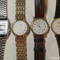 Relojes: LOTE DE CUATRO RELOJES DE QUARTZ, KESSEL, GENEVA, PHILIPPE ARNOL, TV3. Lote 198838820