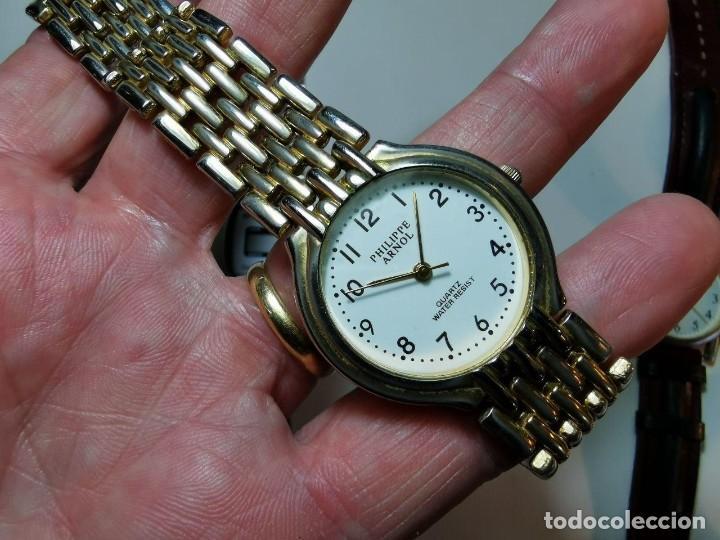 Relojes: LOTE DE CUATRO RELOJES DE QUARTZ, KESSEL, GENEVA, PHILIPPE ARNOL, TV3 - Foto 4 - 198838820
