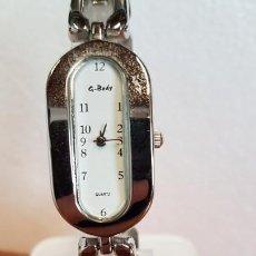 Relojes: RELOJ SEÑORA G.BODY DE CUARZO DE ACERO, ESFERA BLANCA CON NÚMEROS EN NEGRAS, CORREA ACERO ORIGINAL . Lote 199199193