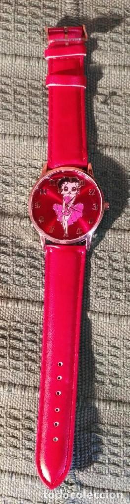 Relojes: Rg 16 Reloj muñeca grande rojo mate con Marylin - Por estrenar - Sin pila - 4cm - Foto 2 - 199237005