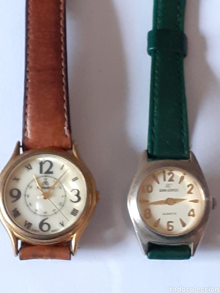 LOTE DE 2 RELOJES DE CUARZO FUNCIONANDO PERFECTAMENTE (Relojes - Relojes Actuales - Otros)