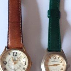 Relojes: LOTE DE 2 RELOJES DE CUARZO FUNCIONANDO PERFECTAMENTE. Lote 199301175
