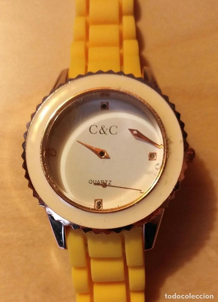 RG 22 RELOJ MUÑECA PLÁSTICO AMARILLO DESMONTADO - PORA REPARAR - SIN PILA - DIÁMETRO 4CM (Relojes - Relojes Actuales - Otros)