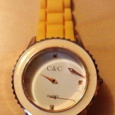 Relojes: RG 22 RELOJ MUÑECA PLÁSTICO AMARILLO DESMONTADO - PORA REPARAR - SIN PILA - DIÁMETRO 4CM. Lote 199391510