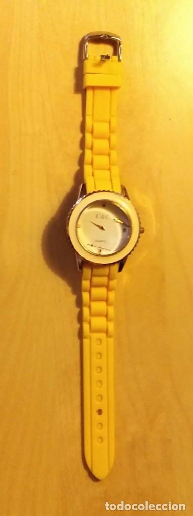 Relojes: Rg 22 Reloj muñeca plástico amarillo desmontado - Pora reparar - Sin pila - Diámetro 4cm - Foto 2 - 199391510